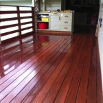 Oiled deck