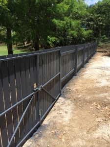 At the completion of fence paint job