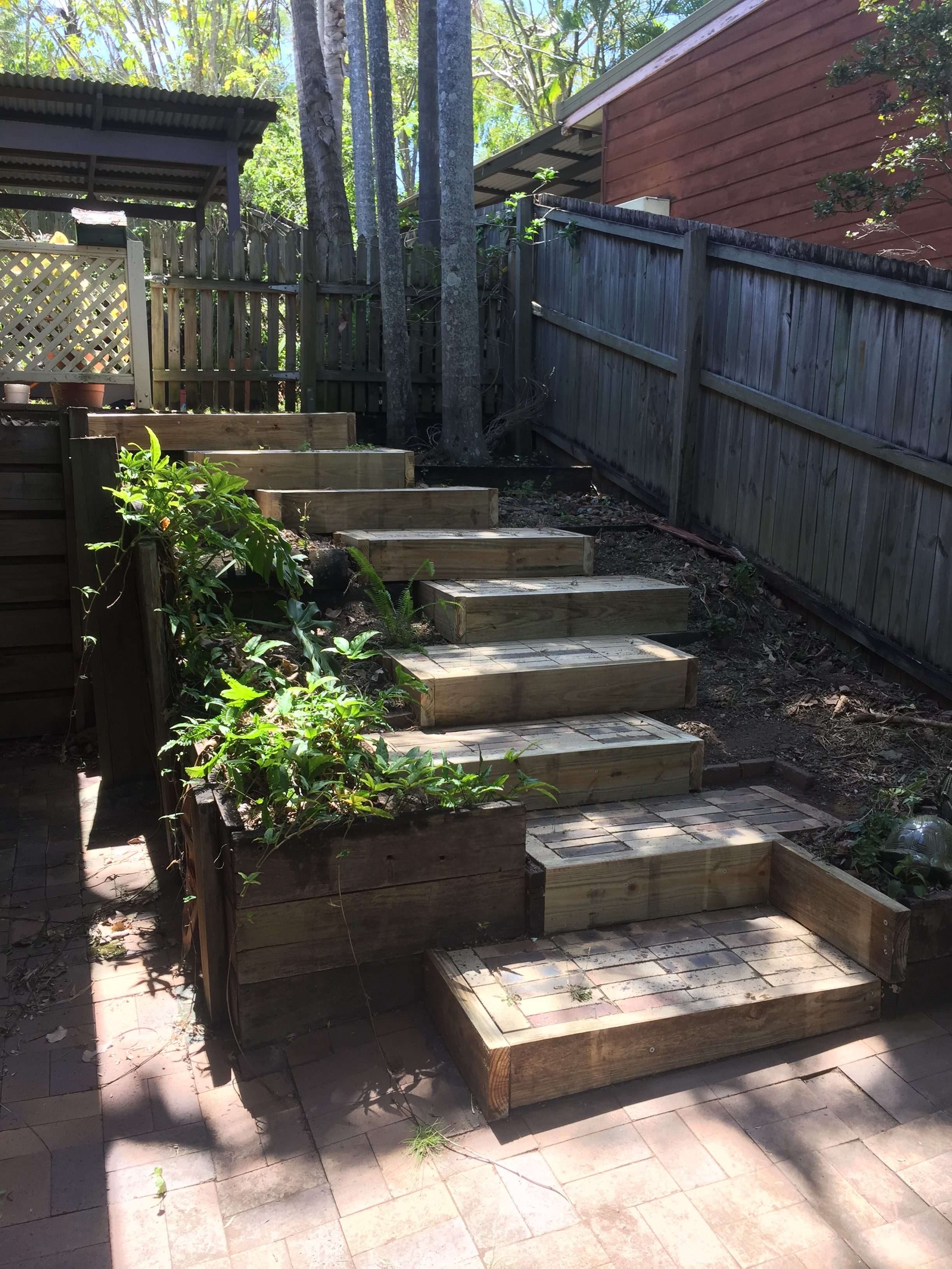 Outdoor Steps Timber Replacement On Outdoor Steps Inside Out Handyman Service