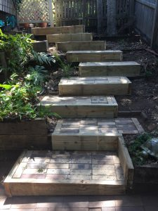 timber replacement on steps